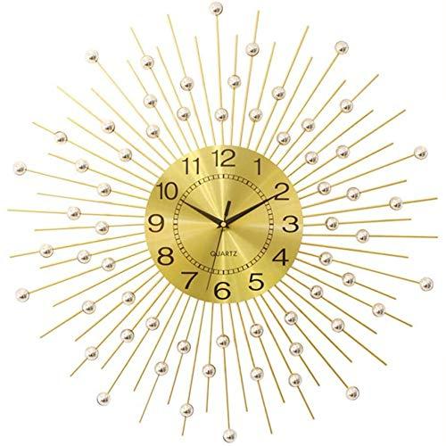 YVX Reloj de Pared Redondo de Metal, silenciosos Relojes Colgantes de Cuarzo de decoración Moderna para la decoración de la Pared de la Cocina de la Escuela de la Oficina en casa (Color: 70 cm)