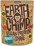 EarthChimp Vegan Protein Powder (26 Servings, 32 Oz) with Probiotics, Organic Fruits & Plant Based Protein Powder, Dairy Free, Gluten Free, Gum Free, Lactose Free, Non GMO, (Chocolate)