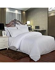طقم لحاف مفرش سرير فندقي مقلم من فالنتيني , 6 قطع، مقاس مزدوج