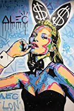 ALEC Monopoly Kate Moss,Wall Art Home Wall Decorations for Bedroom Living Room Oil Paintings Canvas Prints-1160 (Framed,16x24inch)