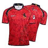 HUAXUN Camiseta de Rugby para Hombre, Camiseta de Entrenamiento de Polo de Rugby español 2019, Camiseta de fútbol de partidario de la selección de España, cumpleaños-XXXL