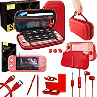 Orzly Switch Lite Accessories Bundle Case & Screen Protector