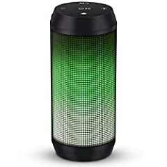 Colorful light modes - The bluetooth speaker has five light modes, gradient lights would truly bring you party atmospher. Hi-Fi Stero sound and Beating Music - Equipped with 10 watts of dual precision stereo drivers speaker, easily fill loud volume s...