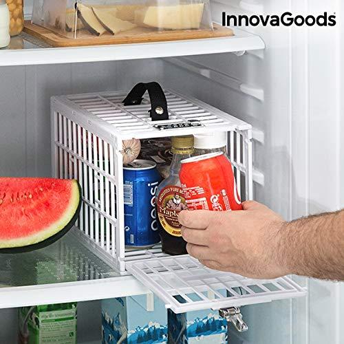 InnovaGoods Sicherheitskäfig für Kühlschränke Food Safe, Weiß, Unzerbrechlich