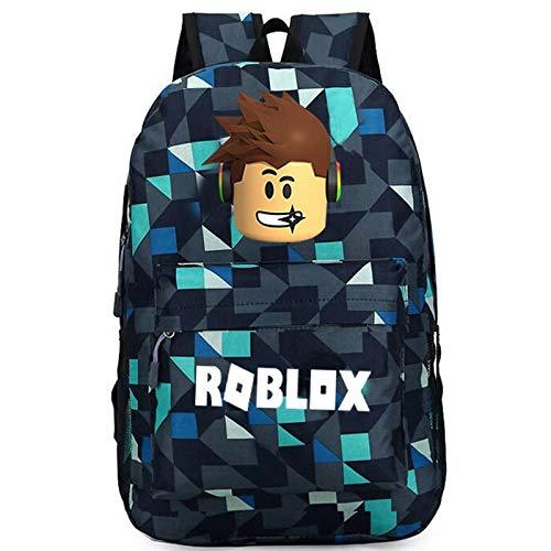 Game Bag Omringende Rugzak Lightning Lattice Star Sky Bag Mannen en Vrouwen Schoudertas Blauwe Plaid