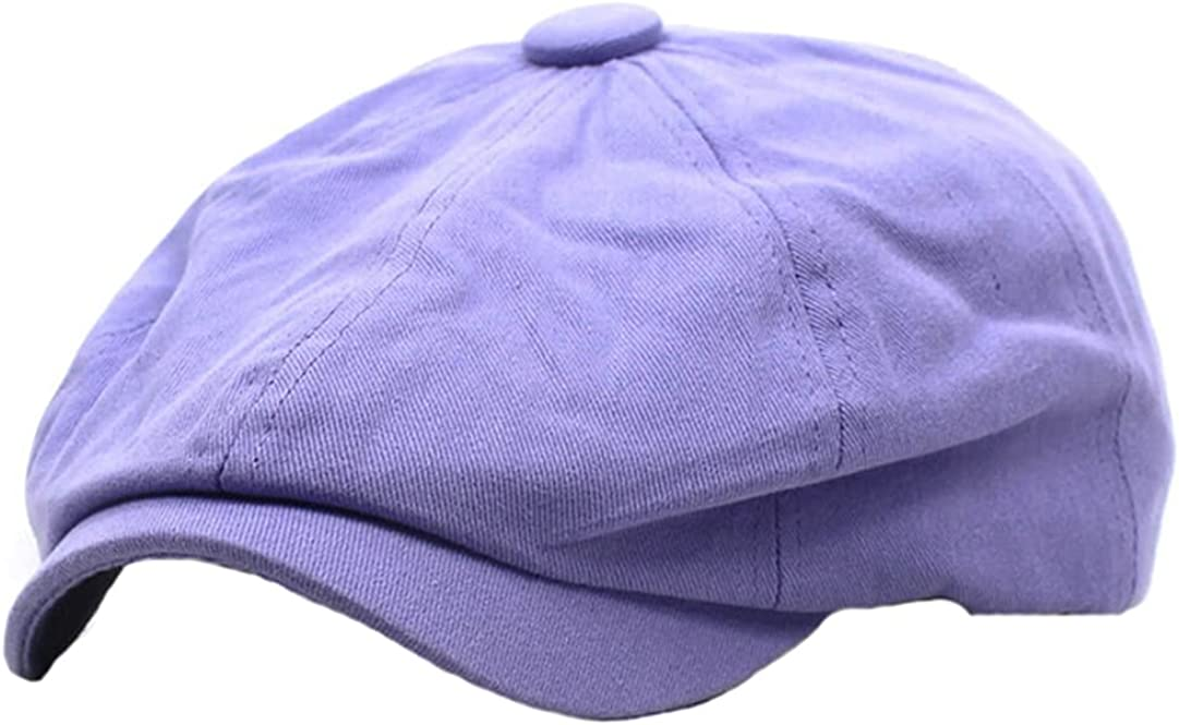 Men Women Solid Color Max 78% OFF Cotton Directly managed store Berets Classic Newsboy Hat Retro Ca