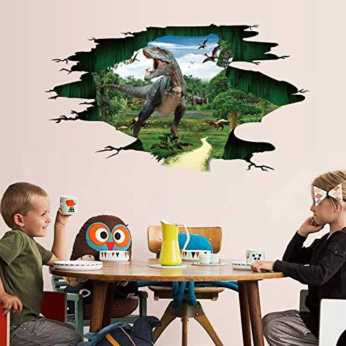 Yudanwin Mode einzigartig Art Kreative Dinosaurier Tapete Jurassic Wandaufkleber Poster Wohnzimmer Schlafzimmer Küche Wandbild Dekoration