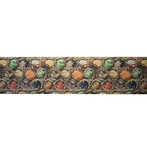 IlGruppone Tappeto passatoia Fantasia spezie Cucina Antiscivolo Lavabile Varie Misure - Fantasia - 50 x 250 cm