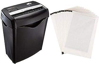 Amazon Basics 6-Sheet Cross-Cut Paper Shredder and Shredder Sharpening & Lubricant Sheets (Pack of 12) Bundle photo