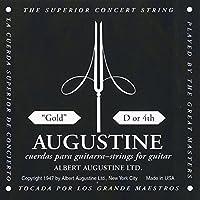 【国内正規品】バラ弦 AUGUSTINE オーガスティン クラシックギター弦 GOLD 4弦(D)