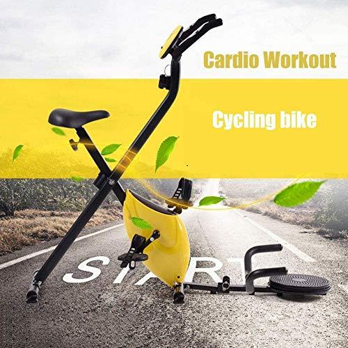 LIANGANAN Bicicleta de ejercicio 2020 para interiores con giro estacionario, resistencia ajustable, monitor LCD para interiores y ejercicio en el hogar, entrenamiento cardiovascular zhuang94