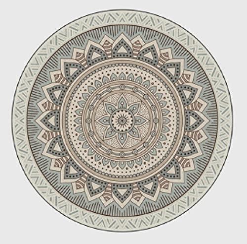 Alfombra Redonda baño esponjosa, Gran Valor,, Alfombra Hermosa,Agradable y Suave,Muy Feliz,150cm de diámetro,Estampado de...