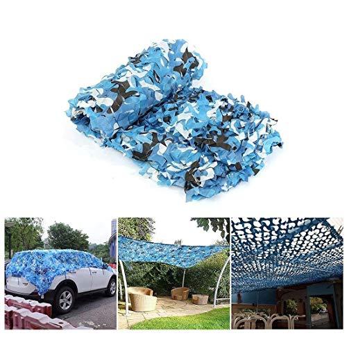 MJHETCY Filets de Protection Solaire de Camping, Bleu Camouflage Net, Oxford Tissu Camouflage Net Camping Militaire Chasse Tir Caché Halloween Party Décoration, Une Variété de Tailles Disponible