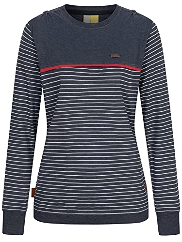 Alife and Kickin Damen LeonieAK T-Shirt, Marine, XL