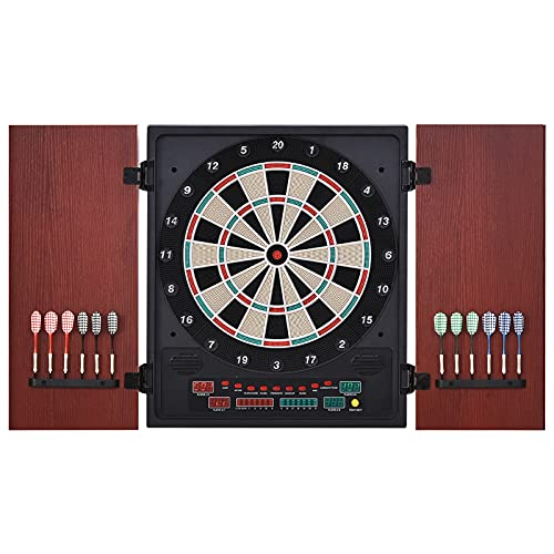 Soozier Electronic Dartboard Set 27 Games and 202 Variations with 12...