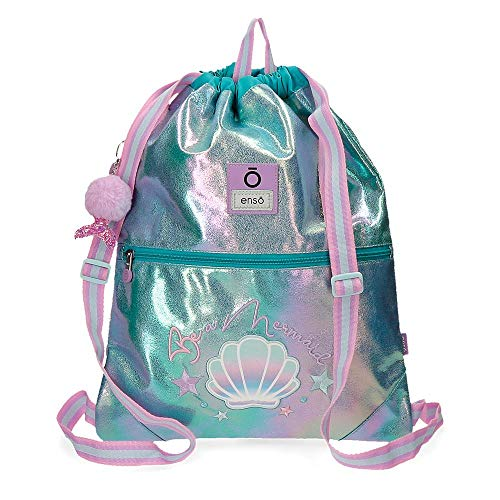 Enso Mochila Saco Be a Mermaid, color Verde