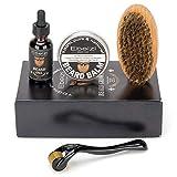 Ebeizi - Kit de aseo para barba para hombres, rodillo Derma