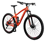 Mongoose Salvo Adult Trail Mountain Bike, 29-inch Wheels, 9-Speed Drivetrain, Lightweight Aluminum Mens Large Frame, Hydraulic Disc Brakes, Orange