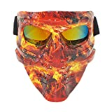 Lawnite Skull Airsoft MaskFull Face Protective Paintball MasksAirsoft Tactical Mask for Outdoor Cs Wargame, Eye Protection Mask, Cosplay and Movie Camouflage Mask