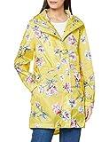 Joules Women's Golightly Waterproof Coat, Yellow Floral, 16