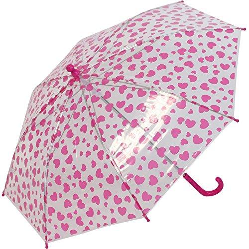 Paraplu kinderen doorzichtig transparant Bambino Hearts