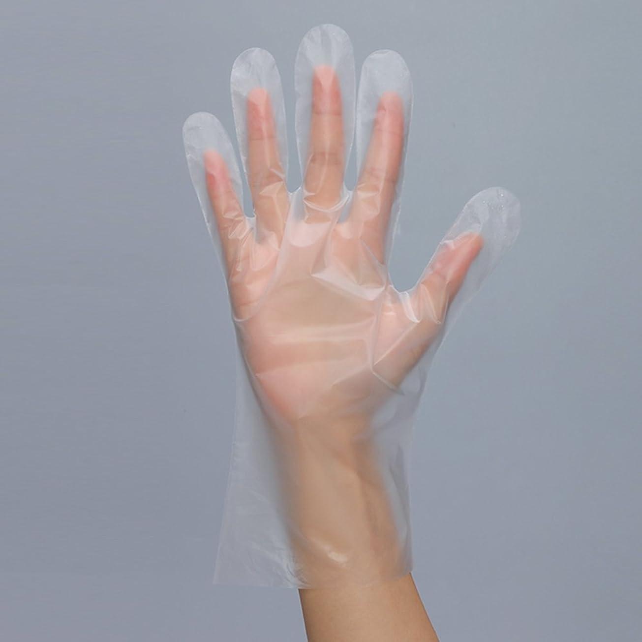 飢え予見する感性使い捨て手袋 透明 食事 キッチン 調理 美容用 衛生 20/100枚入  (100枚入(薄型))