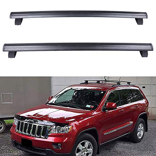 ECCPP Roof Rack Crossbars fit for Jeep Grand Cherokee 2011 2012 2013 2014 2015 2016 2017 2018 2019 w/ Grooved Side Rails,Aluminum Bars (Only Fits with Grooved Side Rails) -  104599-5211-1646138933