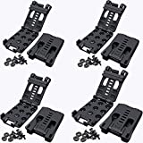 GLBSUNION Tactical Belt Clips, 4 Pack Universal Utility EDC Belt Clip Outdoor Loops Camping Knife Blade Lock Large with Hardware for Holsters or Mag Pouches Sheath Tools