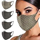 VVIA 2021 Beliebt Drucken Mundschutz Multifunktionstuch Maske Atmungsaktive Baumwolle Stoffmaske Waschbar Mund-Nasenschutz Bandana Halstuch Männer FrauenFrauen
