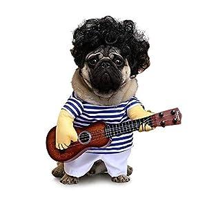 Dewanxin Pet Costume de Guitare, Festival, Robe de soirée, déguisement de Cartoon pour Chien ou Chat