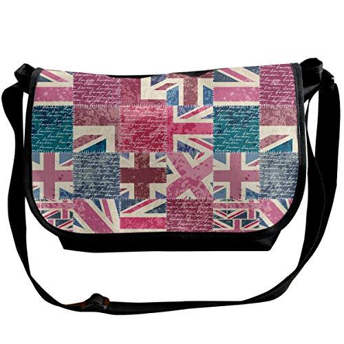 BUGKHD Schultertasche für Herren und Damen, Vintage-Design mit Londoner Flagge