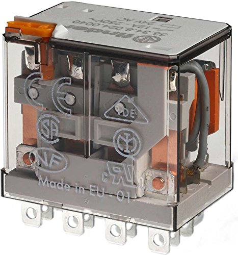 Finder serie 56 - Rele potencia 4 contactos agni 24vdc pulsador +indicador