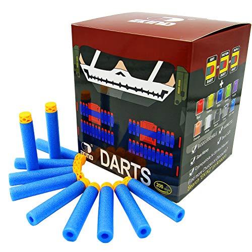 EKIND 200 Pcs 7.2cm TPR Waffles Soft Head Darts Refill Foam Bullet Compatible for Nerf N-Strike Elite AccuStrike Series Blasters Toy Gun(Light Blue)