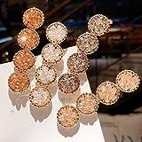 MessenPasadores de pelo de cristal, para novia, dama de honor, hechos a mano, con diamantes de imitación, para mujeres, niñas, etc, 4.00[set de ]