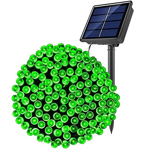 SOLARBABY Solar String Lights Outdoor,72ft 200 LED Solar Christmas Lights Waterproof Solar Power String Lights Outdoor Decoration Lighting for Christmas Wedding Holiday Party Green