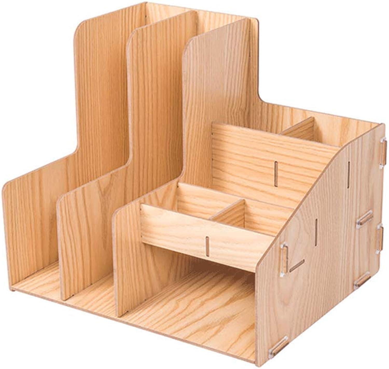 Dateiracks Aktenordner Office-Desktop-Aufbewahrungsbox aus Holz Multi-Layer-Datendatei-Rack (Farbe   A) B07PKTRB4Z | Verschiedene Arten Und Die Styles