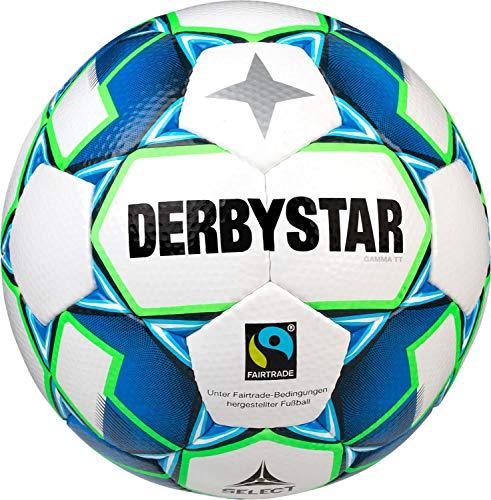 Derbystar Erwachsene Gamma TT, 1153500164 Fußball, Weiss blau Gruen, 5