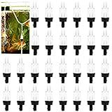 30 Piezas Válvulas de Retención de Plástico, Bomba de Aire de Acuario Valvulas Antiretorno para Peceras o Pequeños Sistemas de Aguas (4 mm)