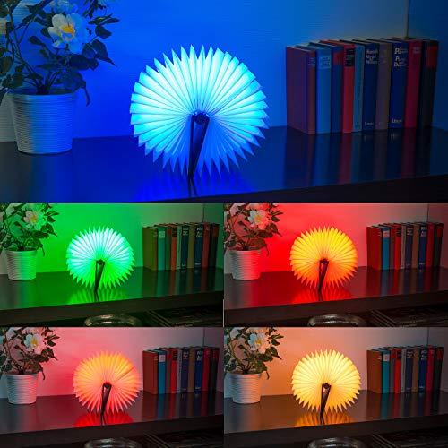 Lunartec Buchlampe: Klappbare LED-Stimmungsleuchte im Buch-Design, 5 Farben, 0,2 Watt (Buchleuchte) - 7