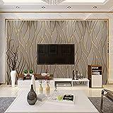 BGI Papier Peint Courbe Minimaliste Moderne Bande TV Fond Mur Papier Salon Chambre...
