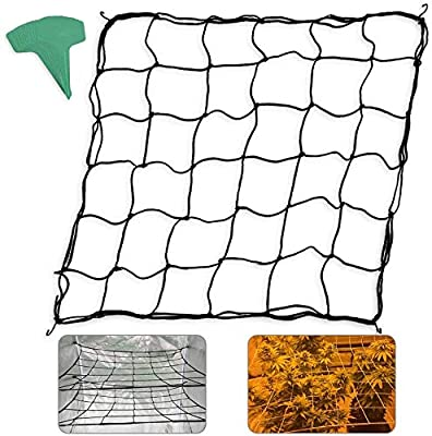 Homneer 2-Pack Grow Tent Net, w/ 15 Pcs Plant Labels, Fits 4'x4' 8'x4' and More Size