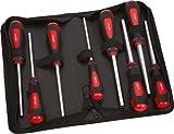 SAM Outillage 291-TR8 Jeu de 8 clés à douilles émanches 6 pans de 6 à 13 mm en trousse