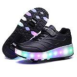 JYMEI Unisex LED Scarpe Sportive con Rotelle,LED Luci Lampeggiante Automatiche Ruote Scarpe da Skateboard Outdoor Ginnastica Moda Sneaker per Ragazzi E Ragazze,I-30
