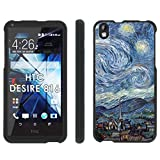 HTC Desire 816 Phone Cover, Starry Night - Mobiflare Black Slim Guard Armor Phone Case for HTC Desire 816