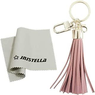 Genuine Leather Cowhide Tassel Bag Charm Keychain Key Ring