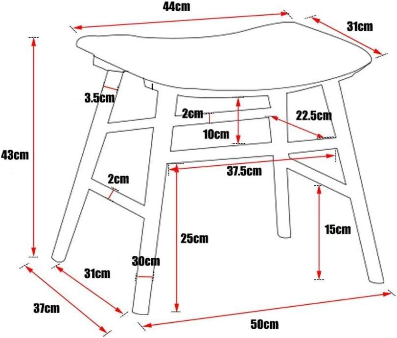 Tabouret De Rangement Fauteuil en Bois avec Support en Cambrure Pouf Rembourré  Tabouret Chaise LEBAO (Couleur : Light) Dark