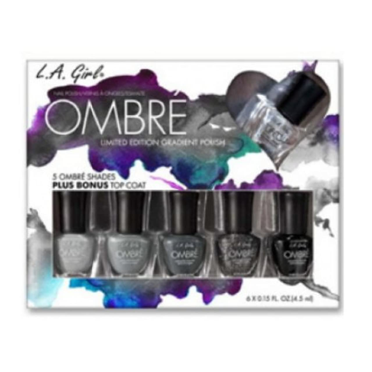 ルネッサンス物理的にシェフ(6 Pack) L.A. GIRL Ombre Limited Edition Gradient Polish Set - Midnite (並行輸入品)