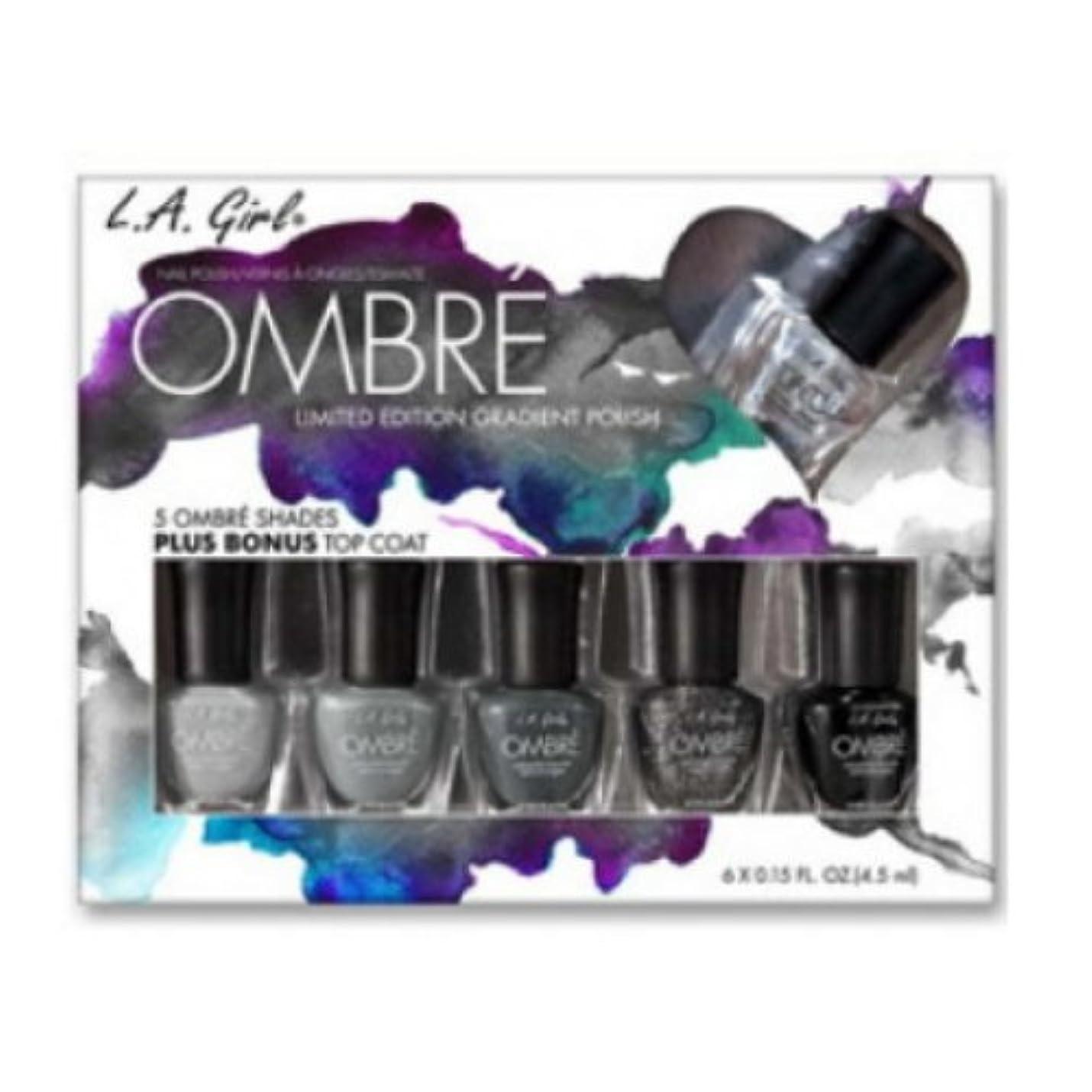 到着簿記係論争(6 Pack) L.A. GIRL Ombre Limited Edition Gradient Polish Set - Midnite (並行輸入品)