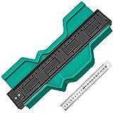 Geschenk für Männer Konturenlehre - 10 Inch Werkzeug Geschenke für Männer Konturenlehre Handwerker Handwerkzeuge Kontur Vervielfältigungslehre, Für Heimwerker Decken und Böden Verlegen (10 Inch, Blau)