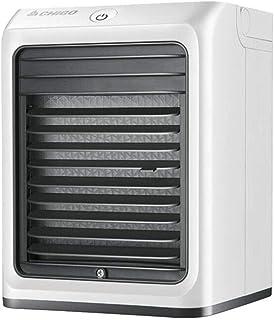 Refrigerador de aire, mini ventilador de aire acondicionado de escritorio Refrigeración rápida portátil Mute a pequeña escala Dormitorio USB para estudiantes, móvil, blanco (Color: Blanco), Blanco